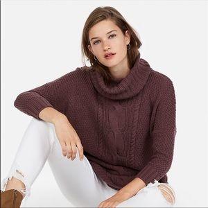 Express Cowl Neck Circle Hem Sweater